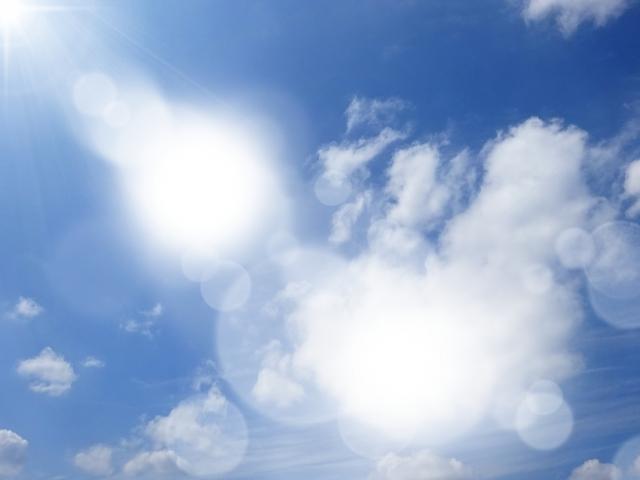空を見上げると気持ちが上向く