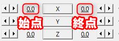 X座標の始点と終点