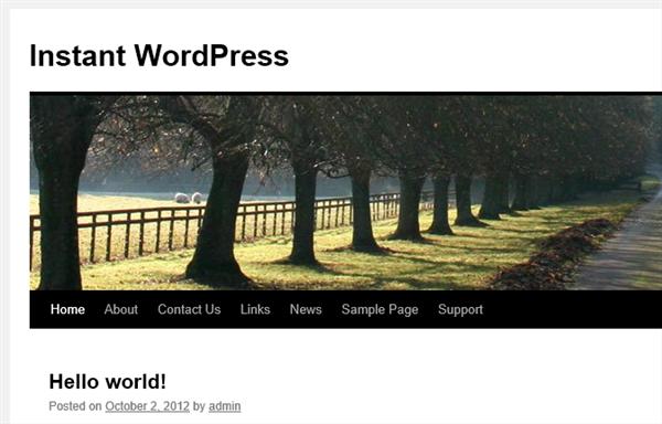 Instant WordPress インストール直後